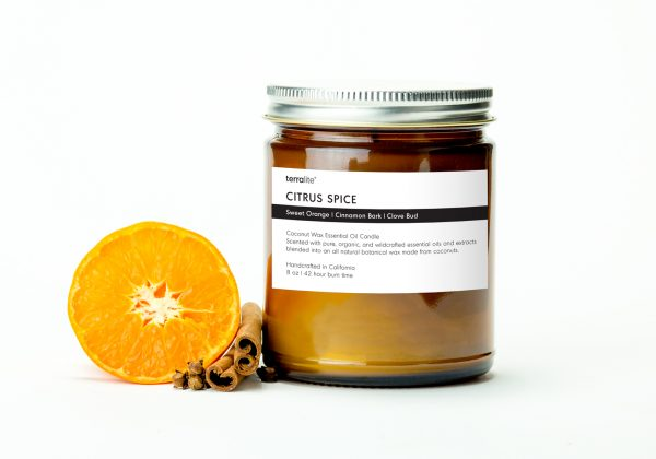 CITRUS SPICE {classic} Coconut Wax Essential Oil Candle with sweet orange, cinnamon and clove essential oils