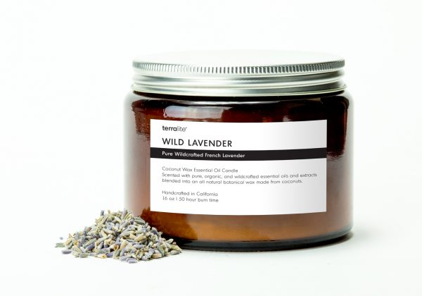 WILD LAVENDER {tri-wick} Coconut Wax Essential Oil Candle with wild lavender essential oils
