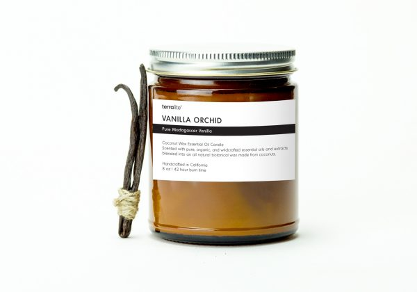VANILLA ORCHID {classic} Coconut Wax Essential Oil Candle with pure vanilla essential oils