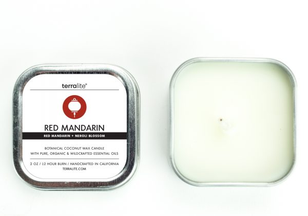 RED MANDARIN 2 OZ ESSENTIAL OIL CANDLE